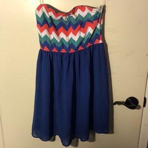 High Low Strapless Dress